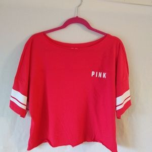 NWT Pink Victoria Secret crop top